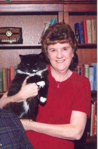 Author Elaine Howley and her crime fighting buddy