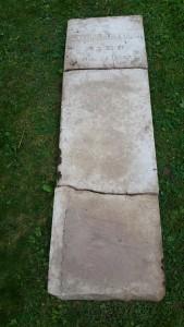 entire grave marker